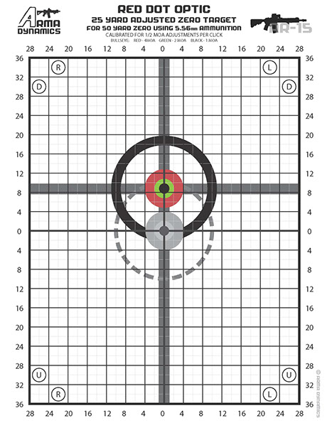 Large Diamond Sight In Target 1 Inch Grid Targets4free